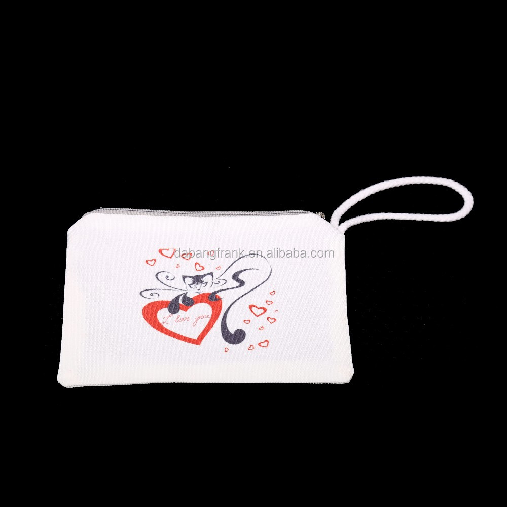 SYMPATHY cotton fabric zipper pouches coin purse