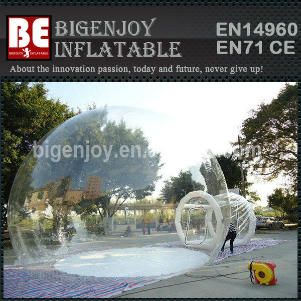 Big inflatable clear house camping clear dome inflatable tent