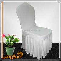 Cheap ruched wedding spandex chair cover factory