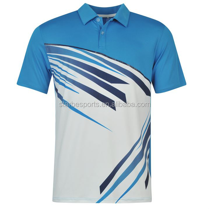 Custom Made Digital Printing Polo Collar Tee Shirt
