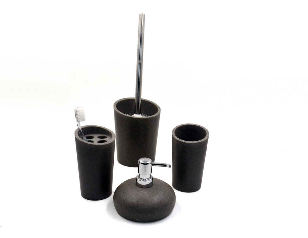 Black Polyreisn sandstone bathroom accessories set for hotel and home