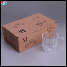 logo printed customized glassware/glass mug