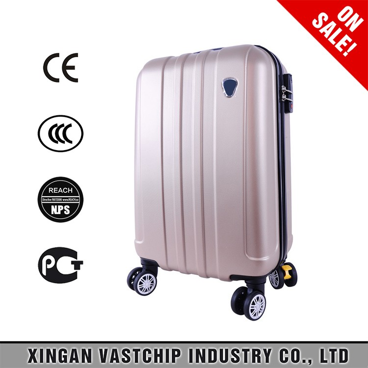 Royal trolley luggage case for travelling aluminum suitcase