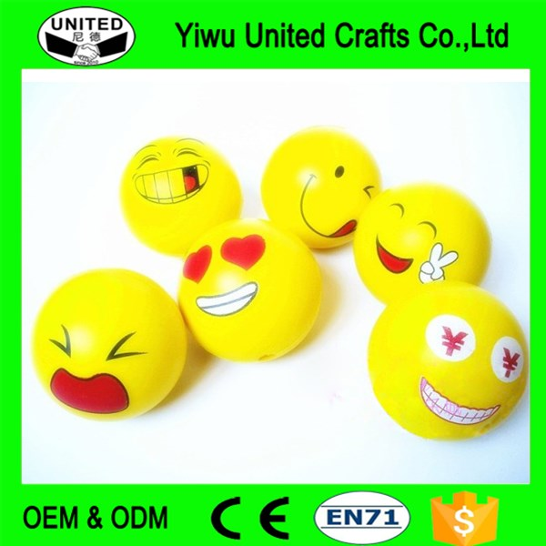 Stress Balls Smiley Face Print Squeeze Antistress Ball