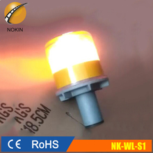 led flashing road safety solar traffic cone warning light