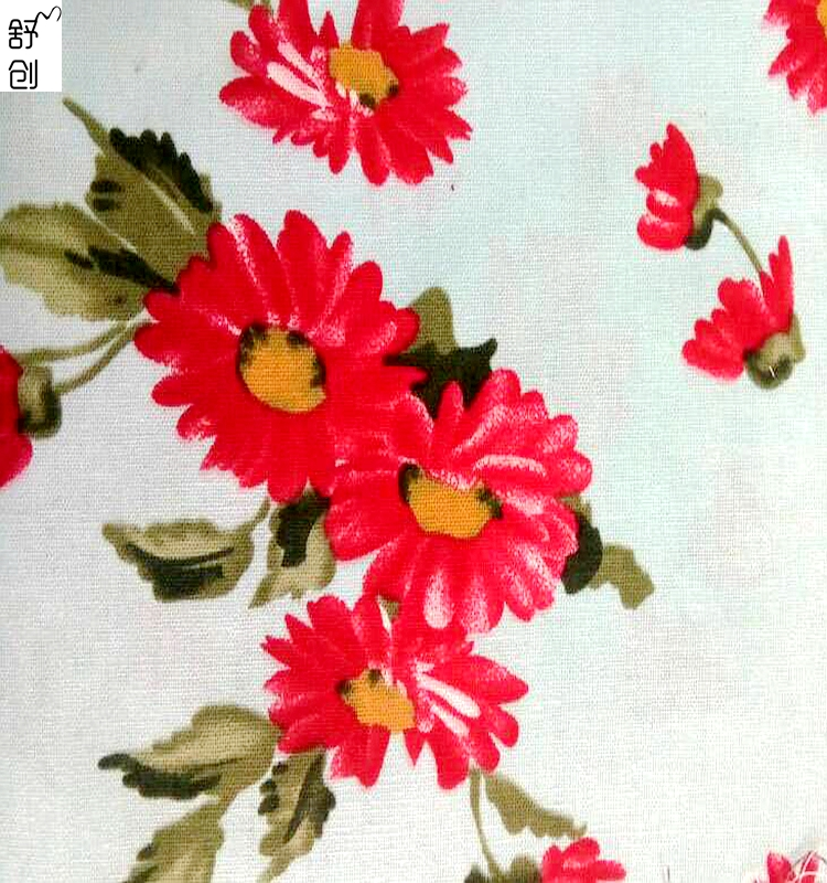 Flower pattern fabric linen cloth for sale