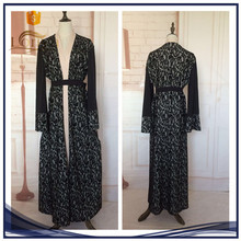 Muslim Dress Arabic Clothes New Model Abaya With Lace Islamic Open Abaya for women