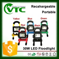 portable rechargeable led stand work light commercial electric led work light 30W 220V