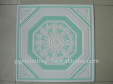 Ceramic cheap multi-painted 60x60 gypsum ceiling tiles 2013 new design