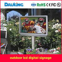 55 inch outdoor wall mounted air cooling sunlight readable water proof LCD TV