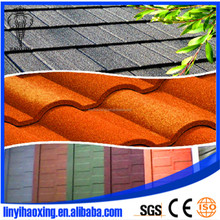 asphalt roofing shingles stone coated corrugated roofing tile (factory)