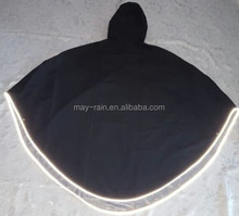 good prices polyester PU coating 100% waterproof custom raincoat hooded with reusable rain cape