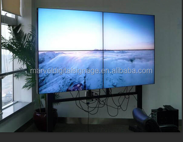 "42"" 46"" 55"" 5.5mm bezel LCD video wall with HDMI Matrix , Video Controller"