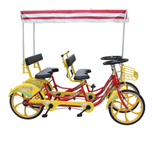best selling four seats park sightseeing quadricycle bike