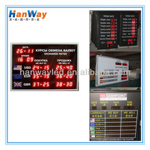2014 hot sale!!!indoor led electronic currency board \ led foreign currency board for office sign \ rates currency