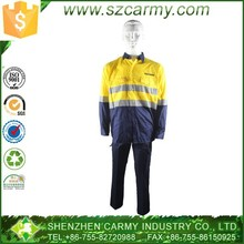 100% cotton hi-vis yellow two tone safety work uniform