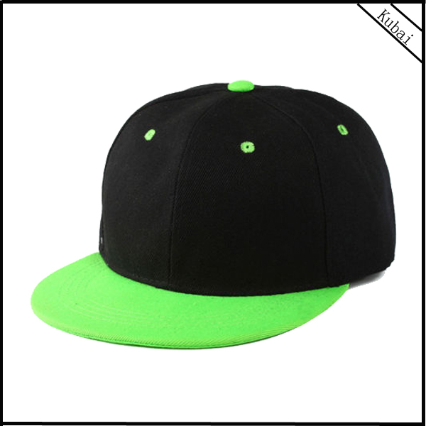 High Quality 100% Cotton 6 Panel Two Color Blank Hip-Hop Customize Snapback Hats