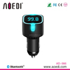 Premiun sun visor bluetooth handsfree metal car kit with APP control LED light usb car charger AD-986