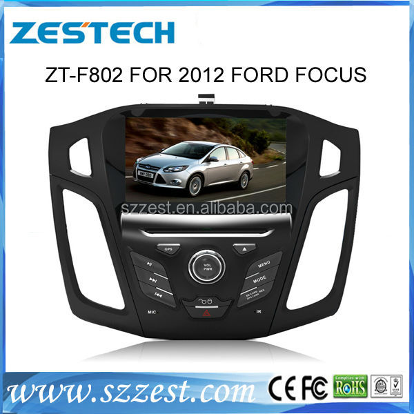 ZESTECH 8 inch car tv monitor with gps system for Focus with SD card for Music and Movie dvd player