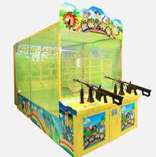 coin operated shooting gun arcade game machine for kids