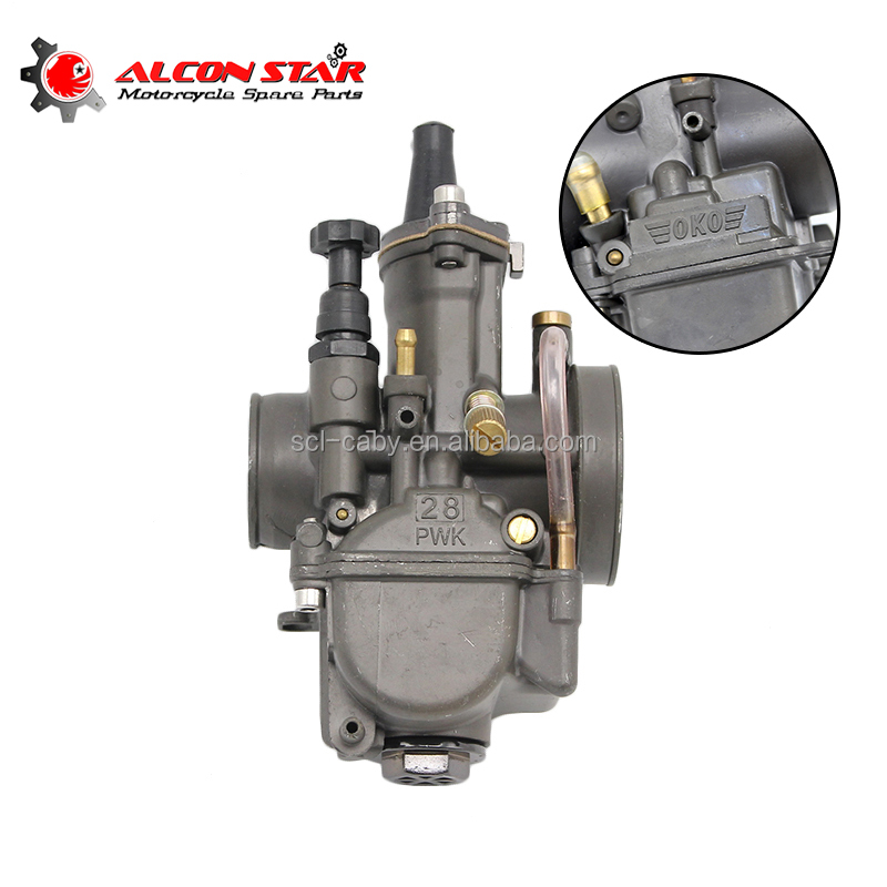Black or Silver color PWK Mikuni Carburetor 28 30 32 34mm with power jet Motorcycle RACING PARTS Scooters dirt bike ATV