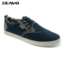 SEAVO SS18 wholesale lace up comfortable two colors new model canvas shoes men