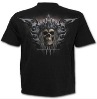 skeleton skull cotton tee male shirt mens cool evil style skulls printed effect bone short sleeve mens 3D T-Shirt