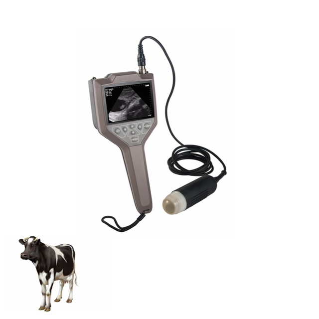 Portable Cow Ultrasound Scanner Palm Handle Vet Ultrasound with CE