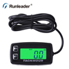 Digital Resettable backlight Hour Meter Tachometer For Motorcycle Marine Boat ATV Snowmobile Generator Mower outboard motocross