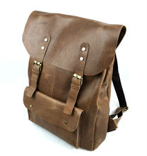 Vintage leather bag for men high quality backpack bags for hunting, lesiure travel bag