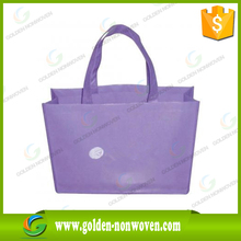 purple non-woven fabric bag pp spunbond non-woven shopping bag, polypropyplene non-woven tote bag made in China