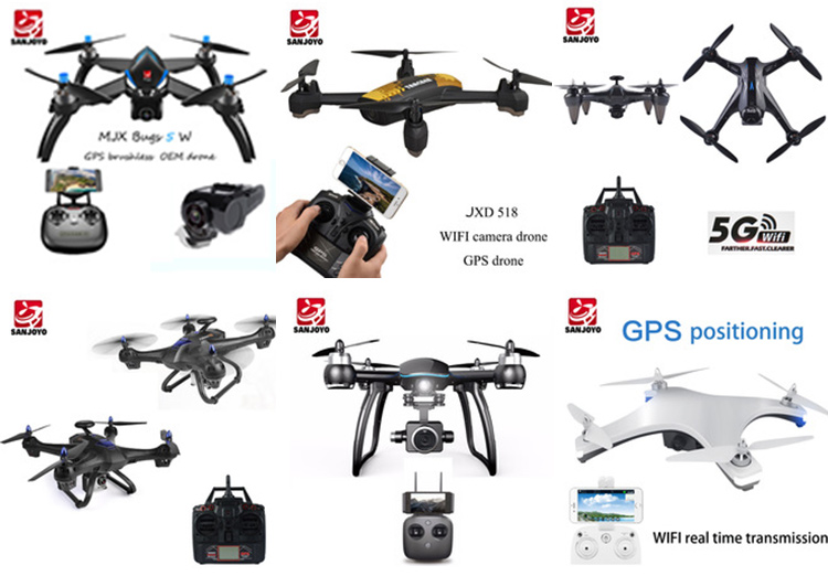 2018 professional GPS drone 5G WIFI 720P wide angle camera drone one key start/landing drone with brushless motor SJY-W606-12