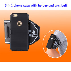 Transformers phone case with arm belt with holder for iPhone 6 SE 5S for huawei P8 hot selling 3 in 1 arm support belt
