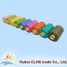 High quality 30s/1 spun polyester sewing thread with plastic cone