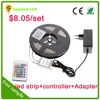 2016 new hot brighter SMD 5050 3528 waterproof rgb led strip 12v 5m