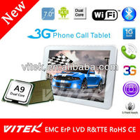 Alibaba China 7inch Camera cdma sim card tablet pc