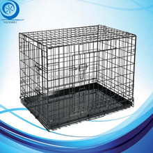 Two Doors Metal Dog Cage with Plastic Carrying Handles