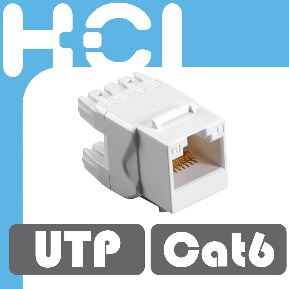 Taiwan Manufacturer RJ45 Cat6 180Degree UTP Keystone Jack