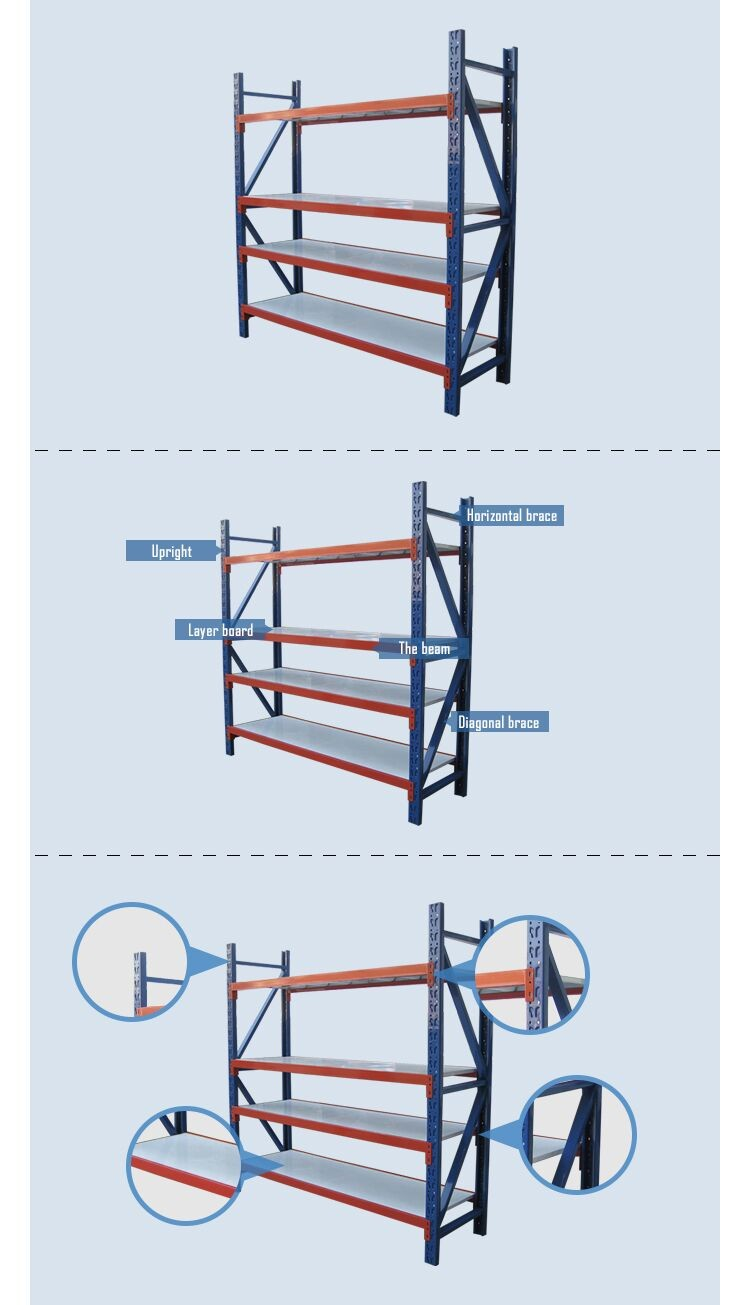racking manufacturer cold roll steel middle duty warehouse racking