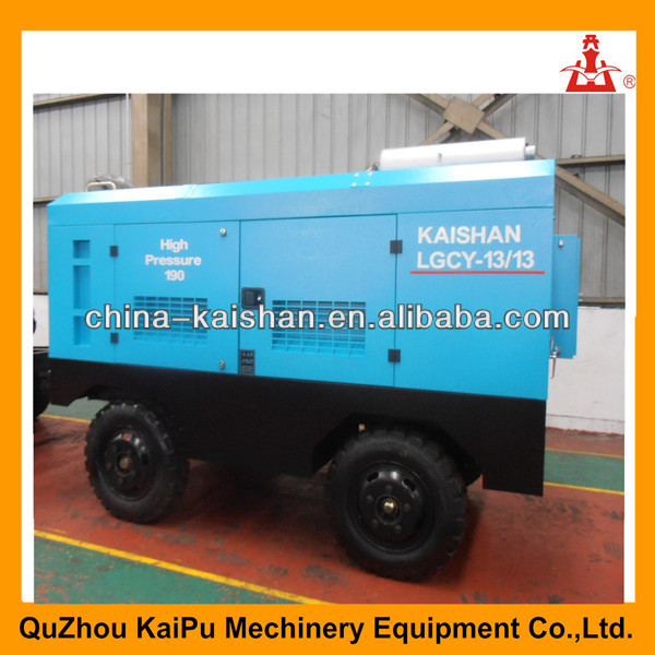 Kaishan brand LGCY-13/13 Diesel Mobile Compressor Air With Cummins Engine/portable diesel screw air compressors