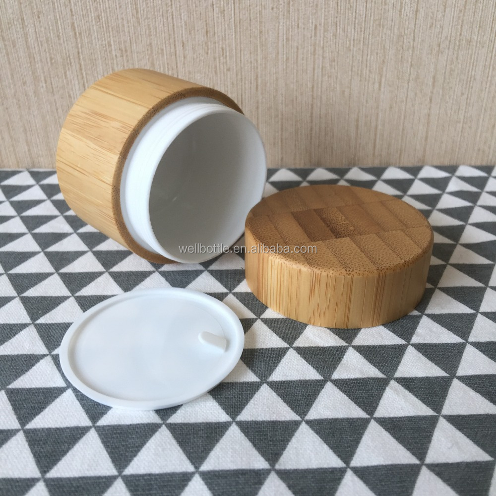 popular cheap storage glass jar with wooden lid screw top lid GJ081R
