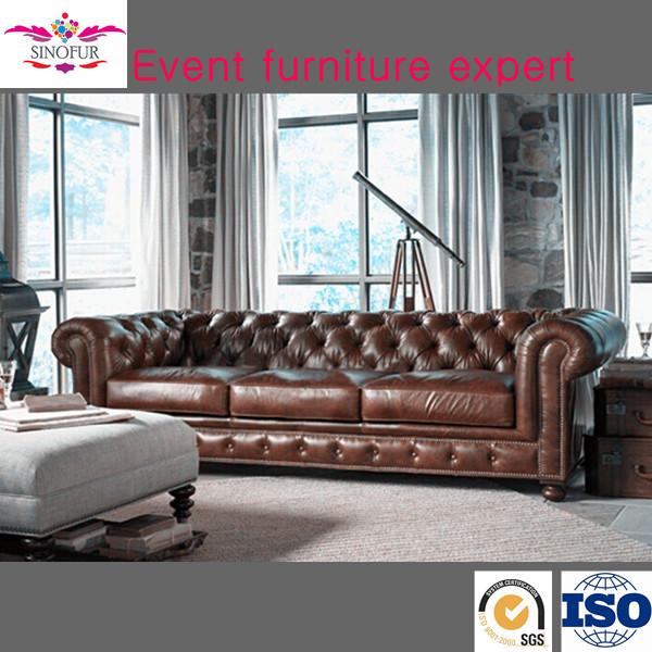 Chesterfield Sofa Price: Sinofur Factory Bottom Price Leather Sofa Furniture