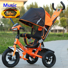 2016 Factory wholesale small kids double seat children tricycle two seats baby tricycle kids push tricycle with back seat