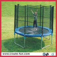 CreateFun spring outdoor commercial cheap large round kids trampoline with ladder