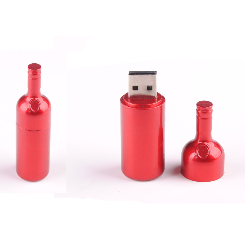 Custom Bottle Model USB Drive USB 2.0 Customized Beer Glass Sharped USB Flash Drive 4GB
