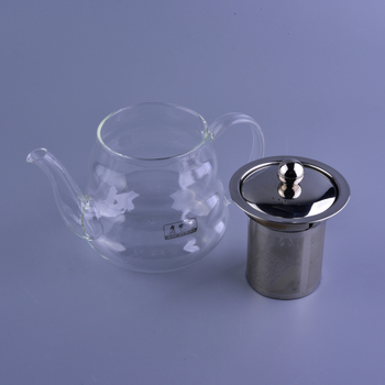 High bolosilicate glass teapot with filter, glass infuser wholesales