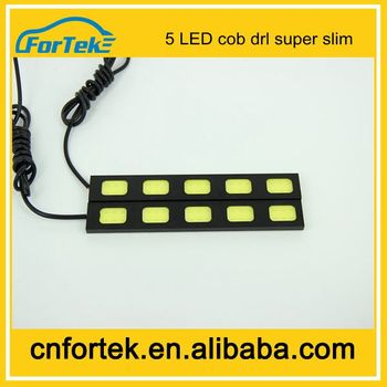 High power COB model super bright 5LED bulb cob drl daytime running light COB DRL car fog lamp car light source