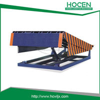 Double oil cylinder fixed dock ramp as loading bay lift for warehouse,store,rolling doors