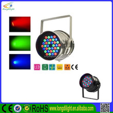 dj equipment 36x3w RGB led par 64 stage light used dance floor for sale