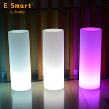 outdoor decoration cordless plastic led cylinder light